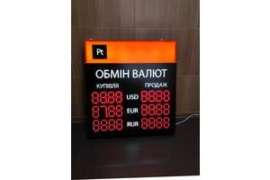 Світлодіодне табло, електронний штендер «обмін валют» 700*85*755