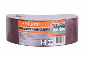 Шліфувальна стрічка шліфувальна стрічка (75х457мм, Р24, 10шт) Sturm 9010-B76x533-060