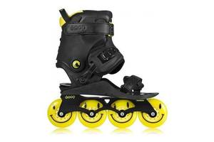 Ролики Doop Freestyle 2 Skates Black/Yellow Skates (43-48, Жовтий)