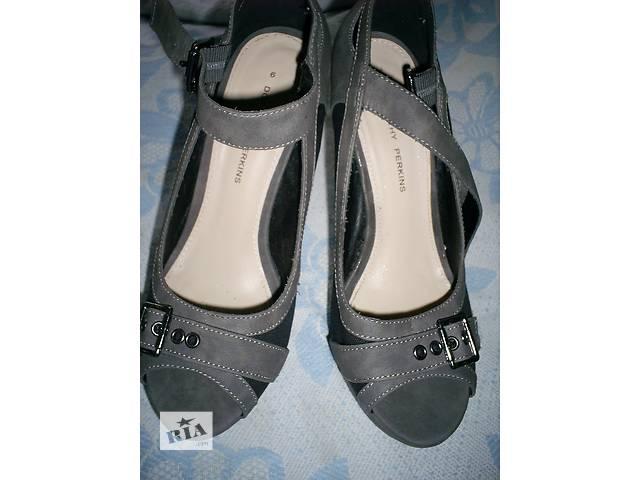 Туфли комбинированные с открытым носком- объявление о продаже  в Харькове