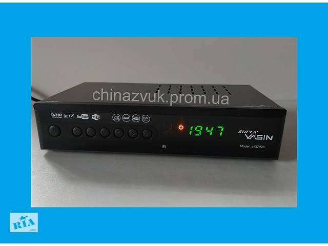 купить бу Super YASIN HD7070 1080P DVB-T2 приставка для цифрового TV (мет.корпус) в Киеве