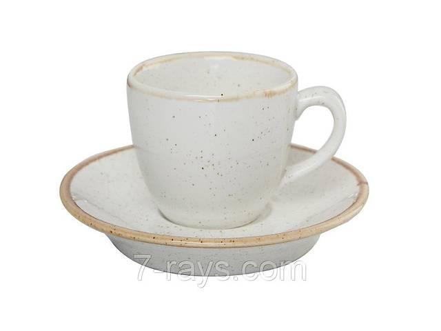 продам Чашка 80 мл. фарфоровая, бежевая espresso Seasons Beige, Porland (блюдце 213-122112.B) бу в Дубно (Ровенской обл.)