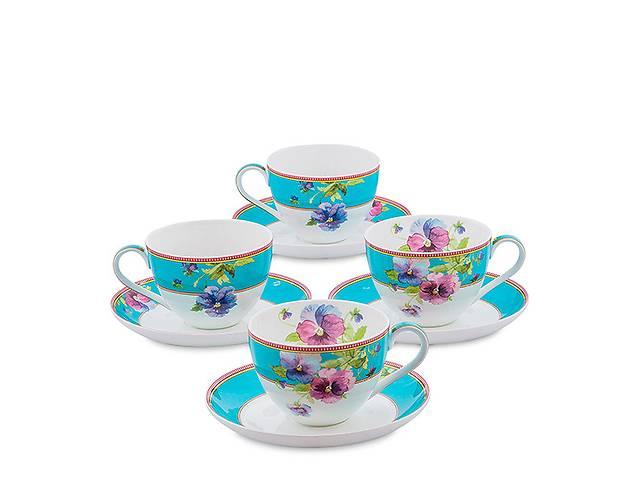бу Чайный набор Pavone Фиалки 8 предметов 1451492 в Харкові