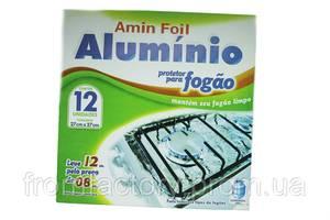 Фольга для плит аллюминиевая (12 шт) 27х27см