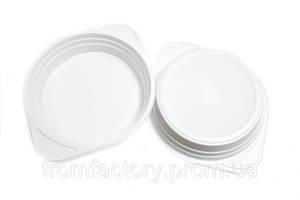 Тарелка одноразовая пластиковая с боковыми ручками (набор 10шт) 15см