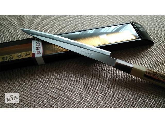 бу Японський ніж для суші та сашимі Teruhide Yanagiba 210mm \ Японский нож для суши в Львове