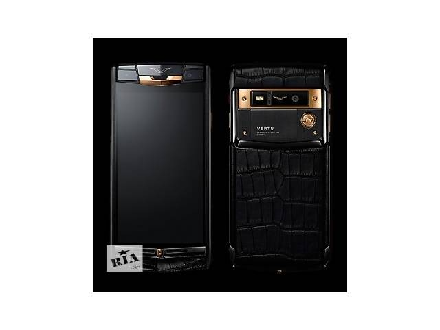бу Vertu Signature Touch Pure Black Gold Alligator, Verty, верту, копии vertu, копии телефонов vertu, точные копии vertu в Киеве