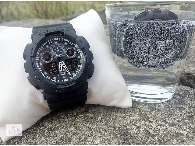 купить бу Водонепроницаемые спортивные часы Casio G-SHOCK GA-100 в Киеве
