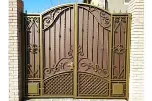 Ворота, калитки, заборы, двери, решетки, лестницы,ограждения, художественная ковка, навесы, козырьки