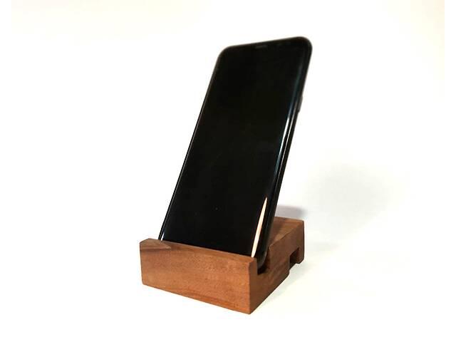 купить бу Деревянная подставка для телефона, смартфона Айфона Двухстороння подставка для телефона из натурального дерева в Харькове
