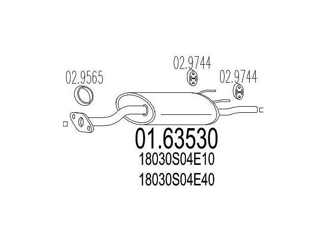 бу Глушитель HONDA CIVIC V купе (EJ) / HONDA CIVIC VI купе (EJ, EM1) 1991-2000 г. в Болграде