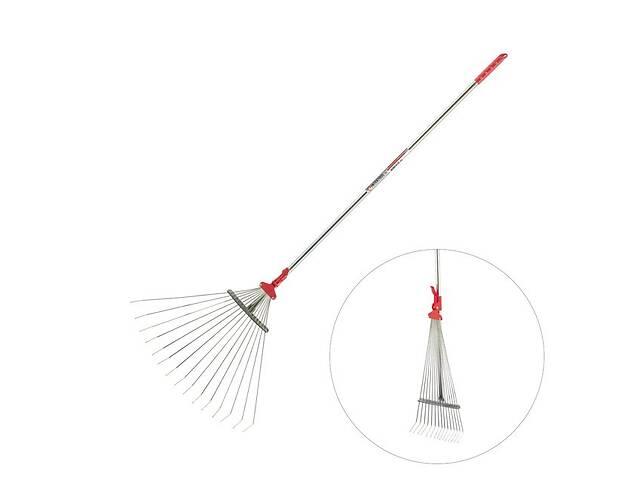 Грабли веерные 15 прутьев, металлическая рукоятка, 20-65см INTERTOOL FT-3008- объявление о продаже  в Львове