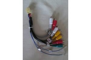 Тюльпан - переходник (комплект кабелей) для подключения систем ауди, видео, медиа в авто