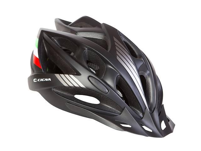 купить бу Шлем велосипедный с козырьком СIGNA WT-036 L (58-61см) (черный) в Одессе