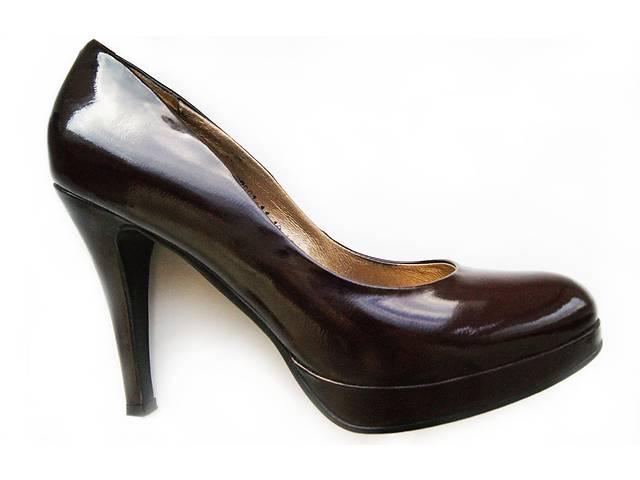 бу Изящнные жіночі шкіряні туфлі ( р. 39-40 ) стильні дуже красиві лакові fab6bd386f052