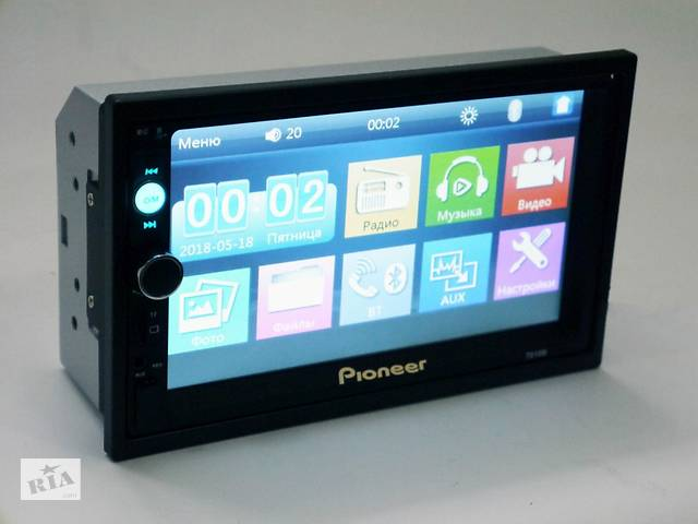 2din автомагнитола Pioneer 7010 USB, SD, Bluetooth, ПУЛЬТ НА РУЛЬ (короткая база)- объявление о продаже  в Запорожье