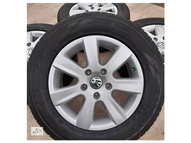 купить бу Б/в Диски + шини VW orig R17 5x130 7,5j Touareg Porsche Volkswagen Таурег в Львове