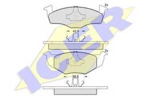 Тормозные колодки комплекты Seat Ibiza