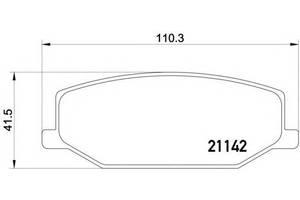Гальмівні колодки комплекти Suzuki SJ