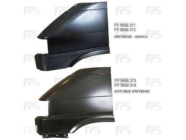 купить бу Крыло переднее правое VW Transporter T4 91-03, кроме TDI, без отв. воздухозаб. (FPS) 701821022 в Киеве