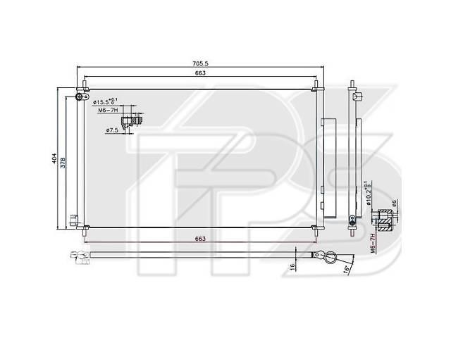 купить бу Радиатор кондиционера Honda CR-V IV (12-17) (Koyorad) FP 30 K33-X в Киеве