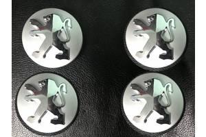 Peugeot 3008 2016↗ гг. Колпачки в титановые диски 60/57мм Original-style (4 шт)