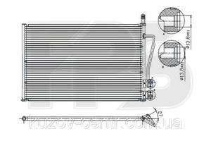 Радиатор кондиционера Ford Fiesta (Форд Фиеста) 02-08/FUSION 02-12, Mazda 2 03-07 (DY) производитель NISSENS