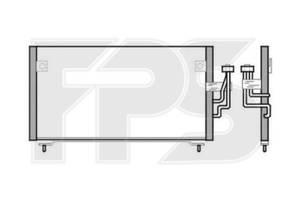 Радиатор кондиционера Mitsubishi galant Митсубиши Галант, FP48K413X Fps