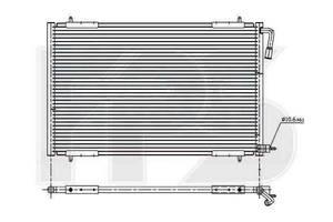Радиаторы кондиционера Peugeot 206