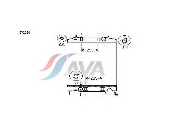 купить бу Радиатор охлаждения IVECO Stralis (03-) Glyser 132068 в Києві