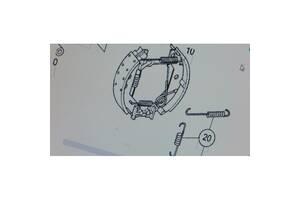 Ремкомплект колодок тормозных задних для Mercedes Benz W168 A-Klasse 1997-2004 б/у