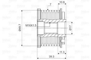 Шкив генератора MERCEDES-BENZ CLS (C219) / MERCEDES-BENZ S-CLASS (W220) 1989-2013 г.
