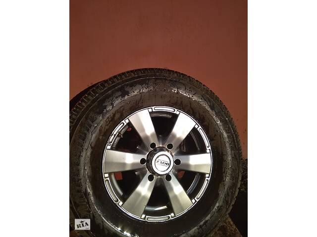 купить бу Шина 265/70 R16 (всесезон) с дисками DOTZ R16 6-ть отвер для Nissan Patrol,Mitsubishi Pajero, Pajero Wagon, Pajero Sport  в Дніпрі (Дніпропетровськ)