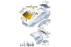 Новые Стекла лобовые/ветровые Audi A4