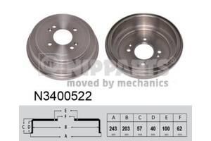 Тормозной барабан KIA RIO II (JB) / HYUNDAI i10 (PA) / HYUNDAI i20 (PB, PBT) 2005-2010 г.