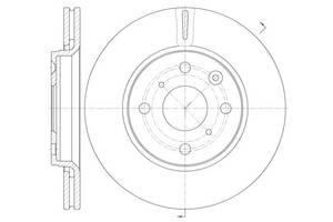 Тормозной диск BYD F0 / PEUGEOT 108 / GEELY PANDA / GLEAGLE PANDA 2005-2015 г.