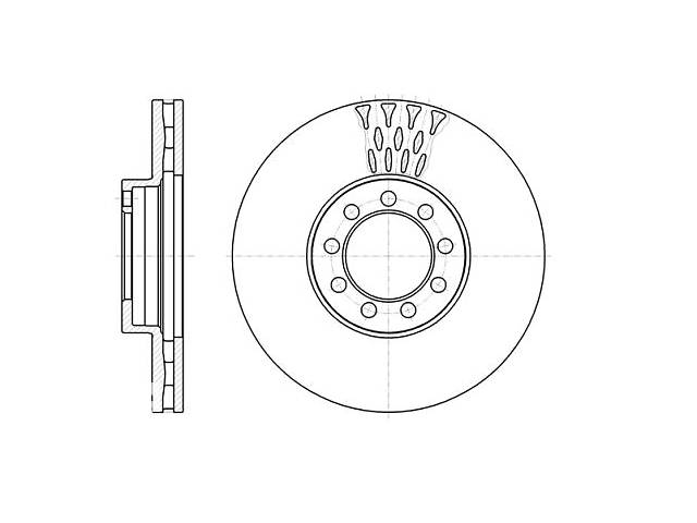 купить бу Тормозной диск IVECO DAILY VI Фургон / IVECO DAILY IV самосвал 2006-2014 г. в Одессе