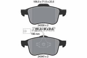 Тормозные колодки дисковые ALFA ROMEO 159 (939_) 2005-2012 г.