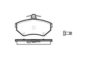 Тормозные колодки, к-кт. VW POLO (6N2) / VW POLO (6N1) / VW VENTO (1H2) 1980-2009 г.
