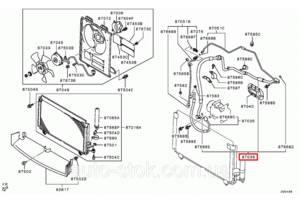 Трубки кондиционера Mitsubishi Outlander