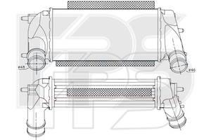 Интеркулер Ford Fiesta VI (Nissens) FP 26 A72-X