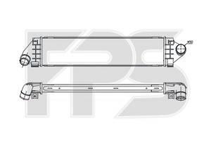 Интеркулер Ford Mondeo IV, Kuga I, Focus II, Volvo S60 II, S80 II, V60, XV70 III