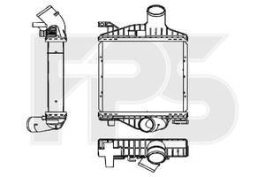 Интеркулер Mercedes-Benz Vito W638 (AVA) FP 46 T88