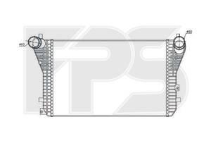 Интеркулер VW / Audi / Seat (Nissens) FP 74 T36-X