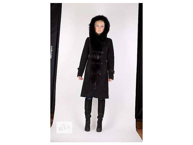 купить бу Модная женская дубленка с мехом тоскана р. 52, 56 в Запорожье
