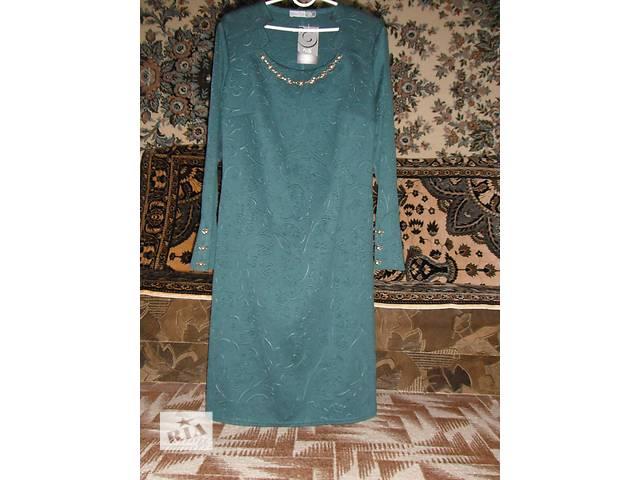 женское платье нарядное трикотаж 3d- объявление о продаже  в Тальном