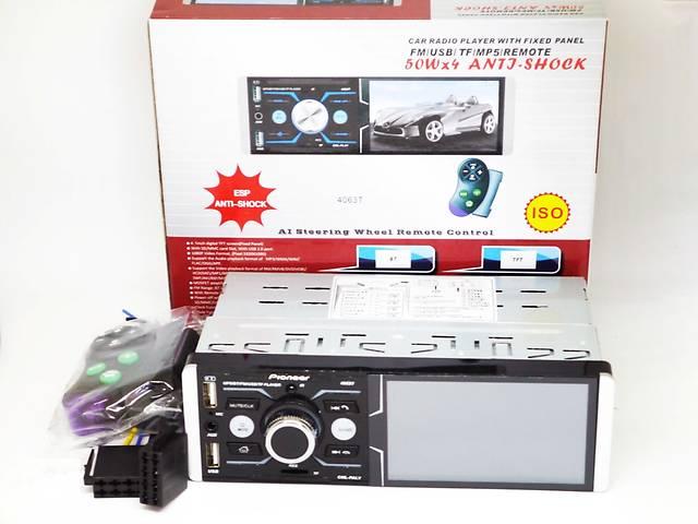 """Автомагнитола Pioneer 4063T ISO  - Сенсорный экран 4,1""""+ RGB подсветка + DIVX + MP3 + USB + SD + Bluetooth + AV-in- объявление о продаже  в Киеве"""