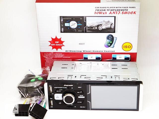 """Автомагнитола Pioneer 4064T ISO  - Сенсорный экран 4,1""""+ RGB подсветка + DIVX + MP3 + USB + SD + Bluetooth + AV-in- объявление о продаже  в Киеве"""