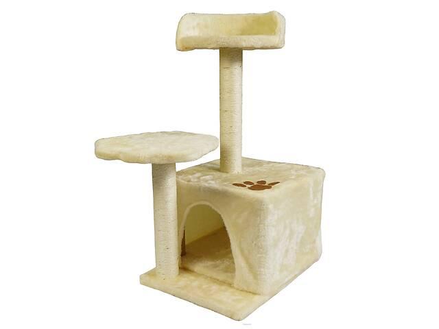 купить бу Когтеточка для кошек с домиком и лежанкой Supretto Бежевый (59750001) в Одесі