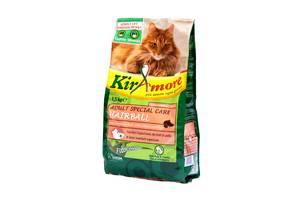 Корм для кошек КIRAmore КИРАморе Adult S.Care Hairball для вывода шерсти с лососем и рисом 1,5 кг GHEDA (Джеда)